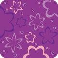 Purple floral retro wallpaper Stock Photo