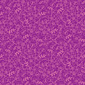 Purple florals seamless pattern background vector elegant with hand drawn line art floral elements Stock Photo