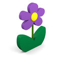 Purple flower illustration Royalty Free Stock Photo