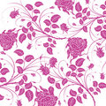 Purple flower seamless pattern Royalty Free Stock Photo