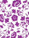 Purple flower seamless pattern Royalty Free Stock Images