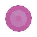 purple flower spring ornament Royalty Free Stock Photo
