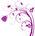 Purple flower and vines Stock Images