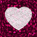 Purple frame in the shape of heart. EPS 8 Royalty Free Stock Photo