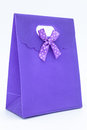 Purple gift bag Stock Photos
