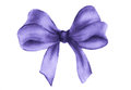 Purple gift bow. Watercolor drawing