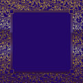 Purple/Gold Decorative Background Royalty Free Stock Photo