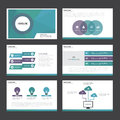 Purple green blue Abstract presentation template Infographic elements flat design set for brochure flyer leaflet marketing Royalty Free Stock Photo