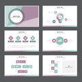 Purple green presentation template Infographic elements flat design  set forbrochure flyer leaflet marketing Royalty Free Stock Photo
