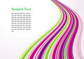 Purple and green striped background Stock Image