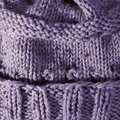Purple Handmade Knit Texture Stock Image