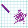 Purple handwritten star Royalty Free Stock Photo
