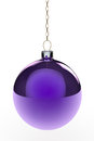 Purple Hanging Christmas Bauble Royalty Free Stock Image