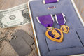 Purple heart wojskowego medal Obrazy Royalty Free