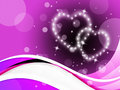 Purple Hearts Background Means...
