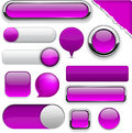 Purple high-detailed modern buttons. Stock Images