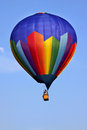 Purple hot air balloon Stock Images
