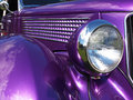 Purple hotrod the lines and curves of a Royalty Free Stock Image