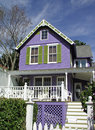 Purple house Stock Photos