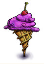 Purple ice cream cone Royalty Free Stock Photography