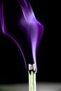 Purple incense smoke Royalty Free Stock Photo