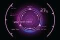 Purple infographics as head-up display