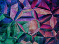 Purple kaleidoscope abstract background. Royalty Free Stock Photo