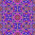 Purple kaleidoscope seamless pattern textur with circle ornaments Royalty Free Stock Photo
