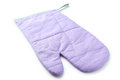 Purple kitchen glove isolated on a white Royalty Free Stock Photo