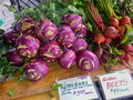 Purple Kohlrabi Royalty Free Stock Photo