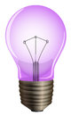A purple light bulb illustration of on white background Royalty Free Stock Image