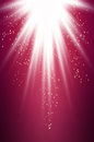 Purple light burst with sparkling stars and space for your message Royalty Free Stock Image