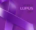 Purple Lupus awareness ribbon background Royalty Free Stock Photo
