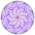 Purple mandala Royalty Free Stock Photo
