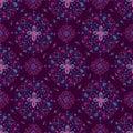 Purple Mandala Floral Pattern on Purple Background