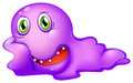 A purple monster illustration of on white background Royalty Free Stock Image