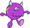Purple Monster Vector Royalty Free Stock Images