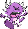 Purple Monster Vector Illustration Stock Photography