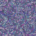 Purple Mosaic Radial Seamless Tiling Pattern Royalty Free Stock Photography