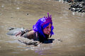 Purple mud princess Royalty Free Stock Photo