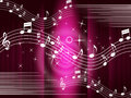 Purple music background means melody and tune meaning Royalty Free Stock Photos