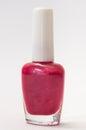 Purple nail polish on a white background Stock Photography
