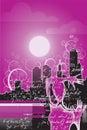 Purple night2 vector 2:3 Royalty Free Stock Photography
