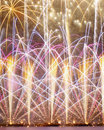 Purple and Orange Fireworks Royalty Free Stock Photography