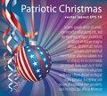 Purple Patriotic Christmas Royalty Free Stock Photo
