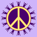 Purple Peaceful People Stock Photo