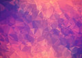 Purple pink abstract background polygon geometric backdrop Stock Image