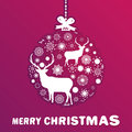 Purple and pink Christmas ball. EPS 8 Royalty Free Stock Photography