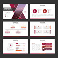 Purple pink red elegance business trifold business Leaflet Brochure Flyer template vector minimal flat design Royalty Free Stock Photo