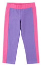 Purple pink sweatpants isolated on white a background Stock Photo